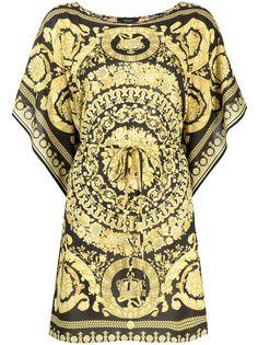 Versace платье-кафтан с принтом Baroque