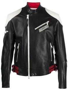 Alexander McQueen байкерская куртка в стиле колор-блок