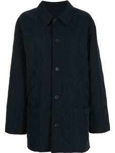 Hermès стеганое пальто pre-owned