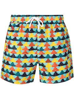 Kiton плавки-шорты с геометричным принтом