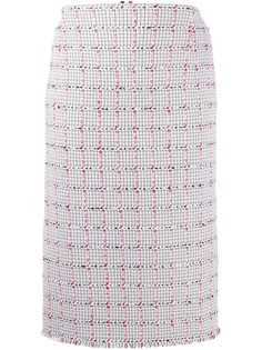 Thom Browne твидовая юбка-карандаш в клетку Windowpane