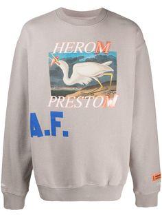 Heron Preston рубашка с длинными рукавами и графичным принтом