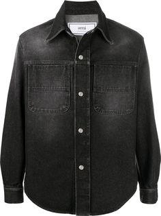 AMI Paris джинсовая куртка-рубашка