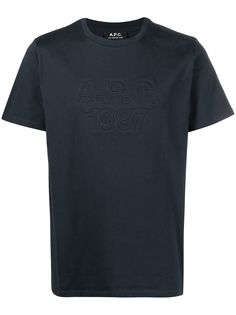 A.P.C. футболка с тисненым логотипом