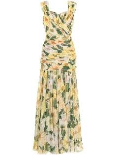 Dolce & Gabbana вечернее платье с цветочным принтом