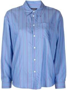 A.P.C. полосатая рубашка на пуговицах