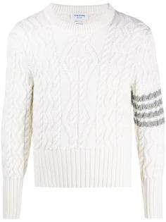 Thom Browne пуловер фактурной вязки с полосками 4-Bar
