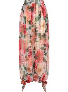 Dolce & Gabbana брюки-шаровары с принтом Camellia