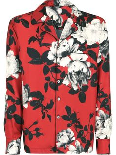 Dolce & Gabbana рубашка с цветочным принтом