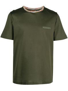 Missoni футболка с короткими рукавами и логотипом