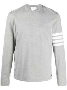 Thom Browne футболка с длинными рукавами и полосками 4-Bar