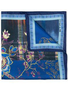 Etro платок-паше с цветочным принтом