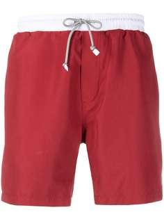 Brunello Cucinelli плавки-шорты в стиле колор-блок