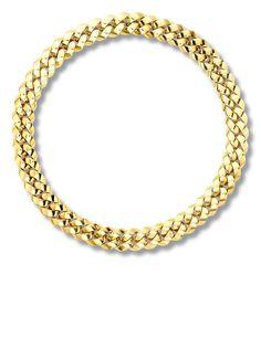 Pragnell цепочка на шею Cuba из желтого золота