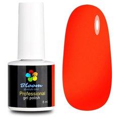 Гель-лак для ногтей Bloom Базовая палитра (неоновые), 8 мл, оттенок мандарин