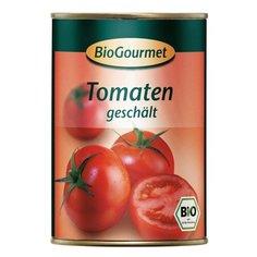 Помидоры очищенные в томатном соке BioGourmet жестяная банка 400 г