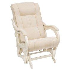 Кресло-качалка Комфорт Модель 78 размер: 71х95 см, обивка: ткань, цвет: бежевый/дуб шампань Komfort