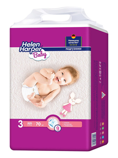 Подгузники Helen Harper Baby Midi 6-10кг 70шт 2314349