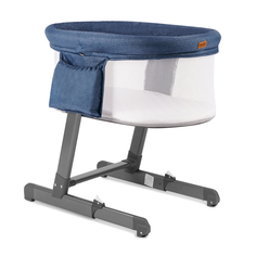 Детская приставная кроватка Nuovita Accanto Bonta Blu scuro Lino/Темно-синий лён