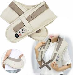 Ударный электрический вибро массажер для шеи и плеч Cervical Massage Shawls New Fates