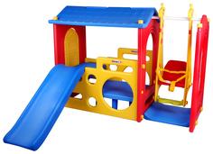 Игровой комплекс Haenim Toy Дом с горкой и качели DS-703