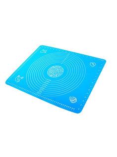 Силиконовый коврик для раскатывания теста, 70х50 см (Цвет: Голубой ) Markethot