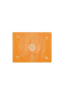 Силиконовый коврик для раскатывания теста, 70х50 см (Цвет: Оранжевый ) Markethot