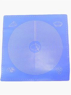 Силиконовый коврик для раскатывания теста, 50х40 см (Голубой ) Markethot