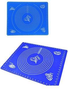 Силиконовый коврик для раскатывания теста, 30х40 см (Цвет: Синий ) Markethot