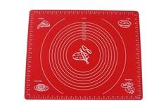 Силиконовый коврик для раскатывания теста, 30х40 см (Цвет: Красный ) Markethot