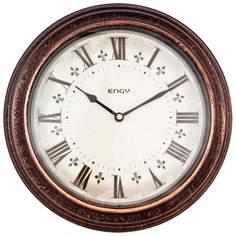 Часы настенные кварцевые Energy EC-19 круглые (30.5x4.4 см) белый циферблат (009319)