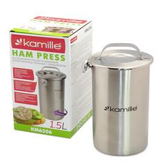 Ветчинница Kamille из нержавеющей стали с термометром 1.5L