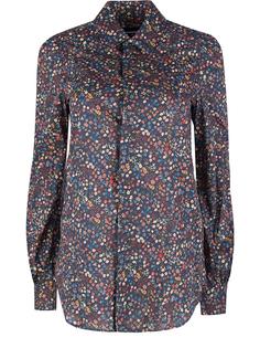 Хлопковая рубашка с принтом Dsquared2