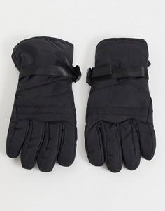 Черные горнолыжные перчатки Consigned-Черный цвет Fenton