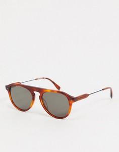 Овальные солнцезащитные очки Lacoste-Золотистый
