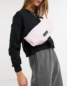Светло-розовая сумка-кошелек на пояс с застежкой-зажимом спереди Consigned-Розовый цвет
