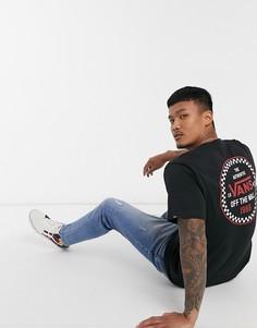 Черная футболка Vans Checker 66-Черный цвет