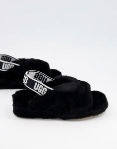 Черные слиперы UGG Fab Yeah Slide-Черный цвет