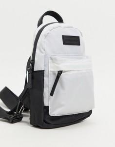 Белый небольшой рюкзак с карманом спереди Consigned-Черный цвет