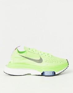 Кислотно-зеленые кроссовки Nike Air Zoom Type-Зеленый цвет