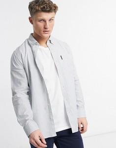 Оксфордская рубашка в полоску Ben Sherman-Голубой