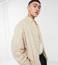Светло-коричневая рубашка extreme oversized в винтажном стиле ASOS DESIGN-Светло-коричневый