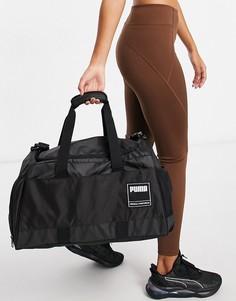 Черная спортивная сумка-дафл среднего размера PUMA-Черный цвет