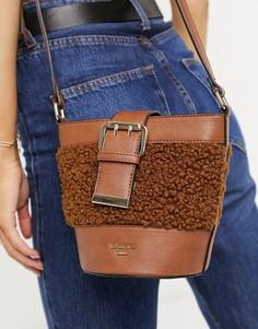 Коричневая сумка-торба с отделкой из искусственного меха Dune Darrah-Светло-коричневый
