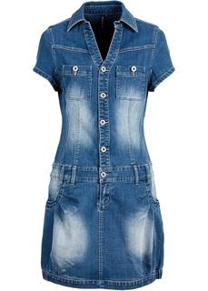 Джинсовое платье-баллон Bonprix