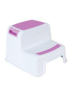 Табурет-подставка детский антискользящий Monblick Royal белый/розовый