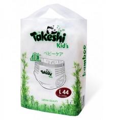 Подгузники-трусики для детей бамбуковые Takeshi Kids L (9-14 кг), 44 шт.