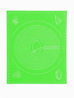 Силиконовый коврик для раскатывания теста, 50х40 см (Цвет: Зелёный ) Markethot