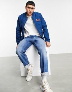 Синяя куртка-бомбер ASOS Actual-Голубой