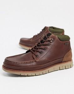 Коричневые кожаные ботинки чукка Barbour Victory-Светло-коричневый